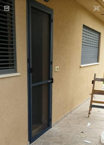 דלת רשת מחיר צבע