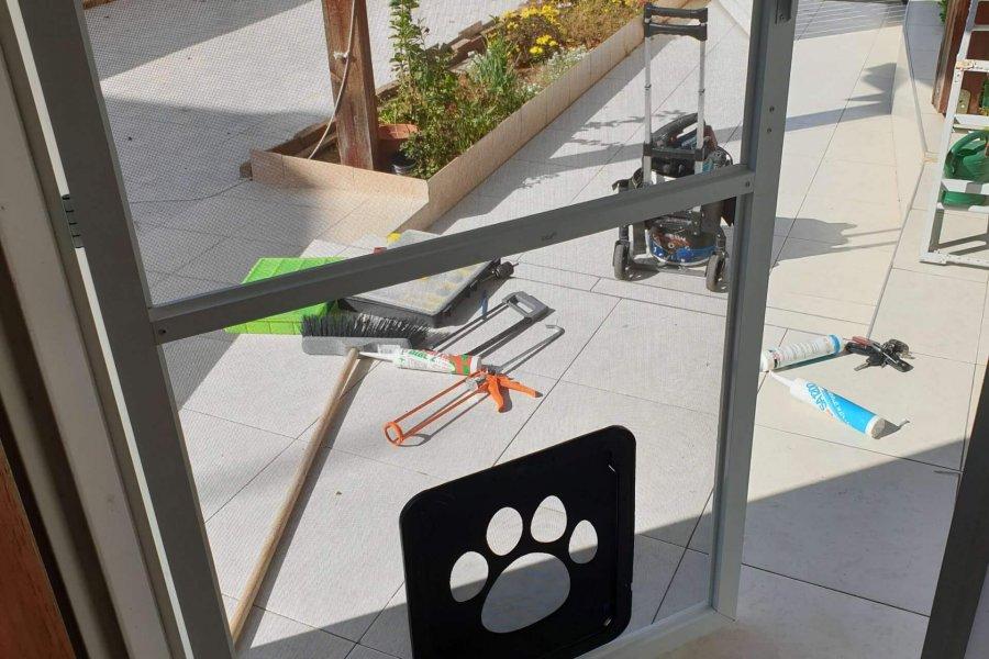 דלת רשת פתח מעבר חיות מחמד בעלי חיים